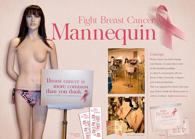 Fight Breast Cancer Mannequin Board