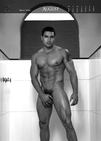 Brent Webb in Naked Rugby League Calendar August Page