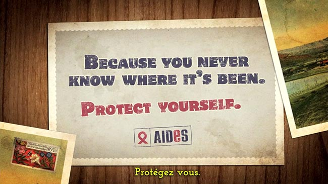 AIDES Willy The Tourist Protect Yourself