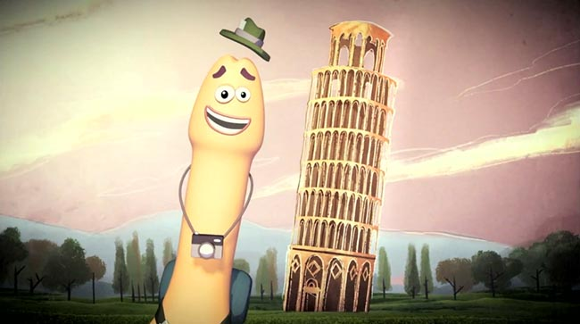 AIDES Willy The Tourist with Leaning Tower of Pisa