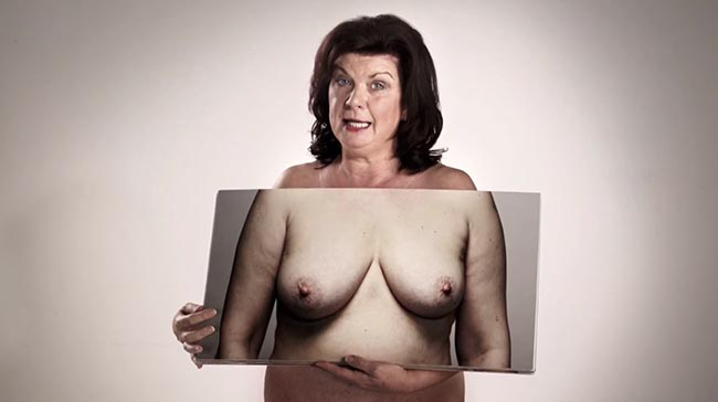 Breasts come in all shapes and sizes - Elaine C Smith in NHS Breast Cancer ad