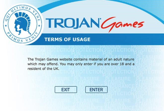 Trojan Games terms of use