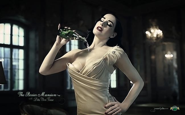 Perrier Mansion with Dita von Teese