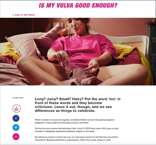 Libresse Viva La Vulva Good Enough