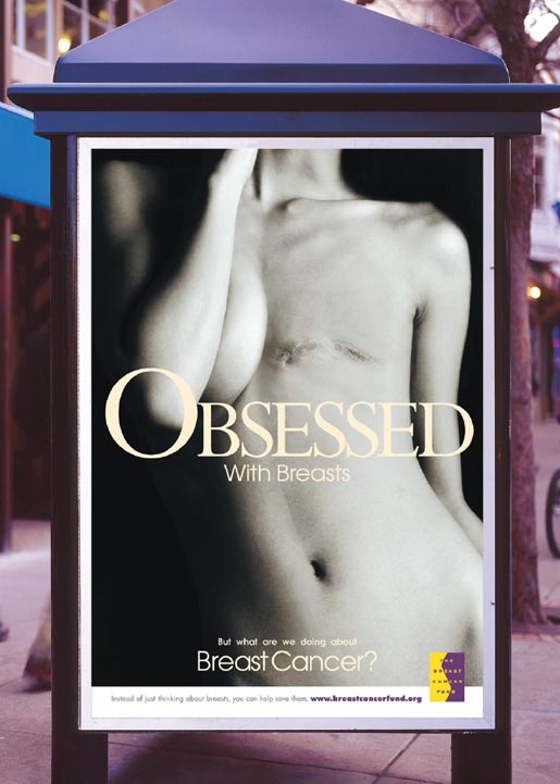 Obsessed with Breasts Breast Cancer Poster