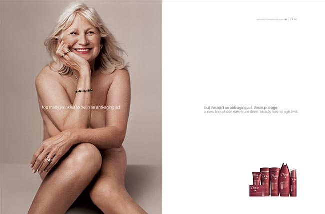Mary in Dove Pro Age Ad