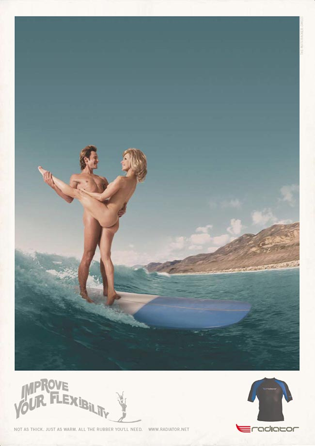 Radiator Surfwear print advertisement