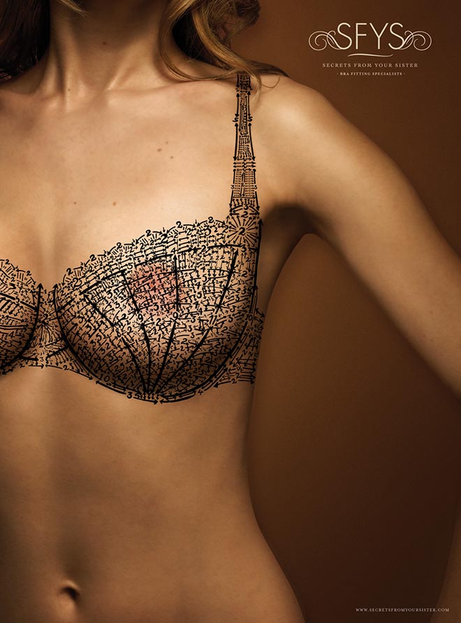 Secrets from Your Sister front view of bra