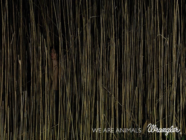 Reeds in Wranglers We Are Animals print advertisement