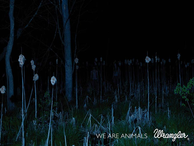 Swamp scene in Wranglers We Are Animals print advertisement