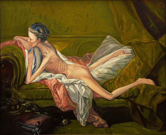 Boucher Nude on a Couch for ANAD