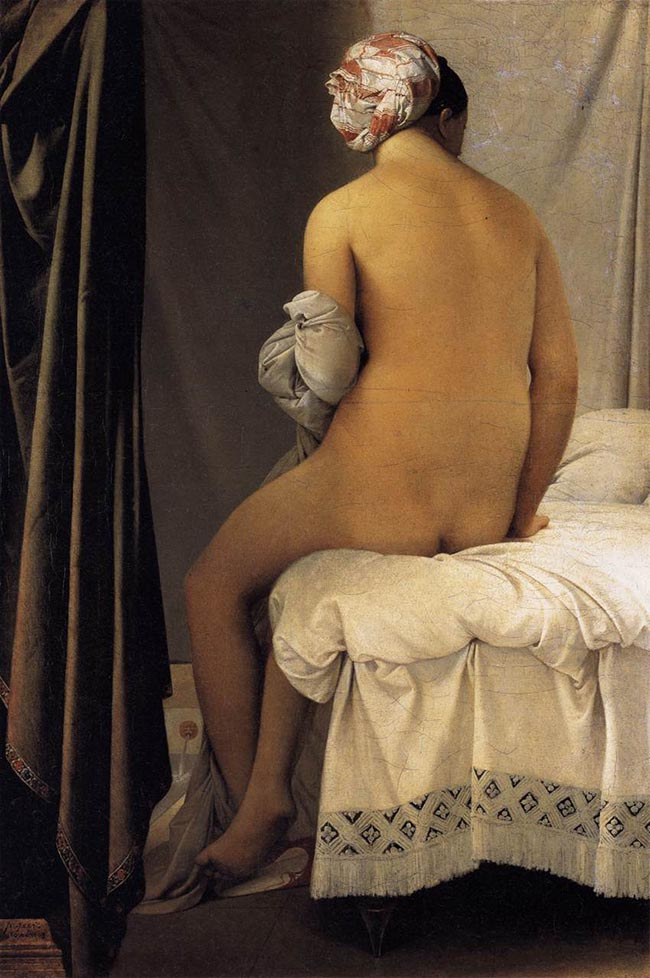 Ingres The bather of Valpinçon