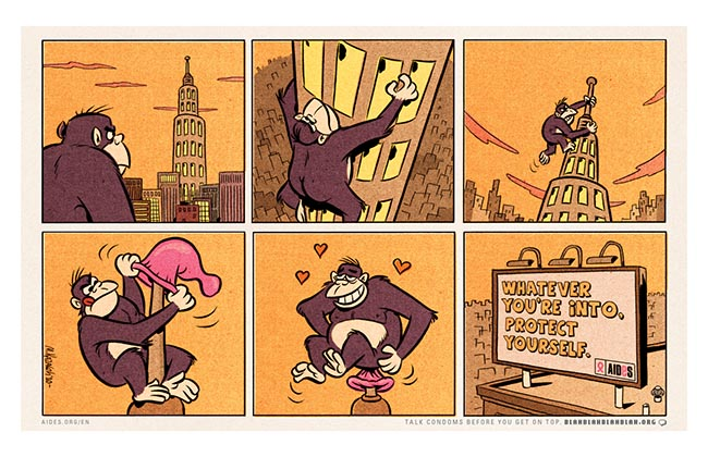 AIDES King Kong cartoon