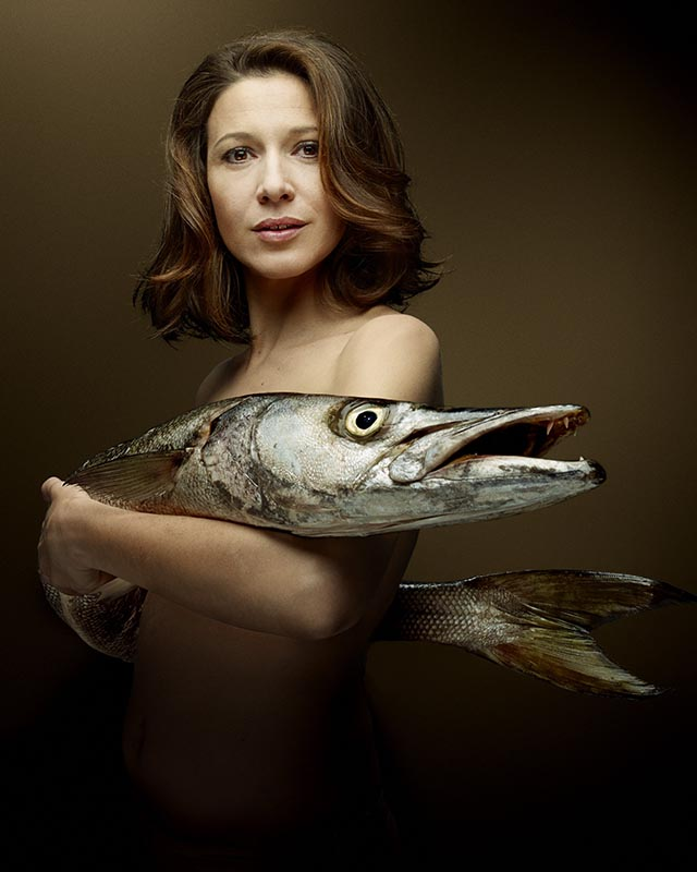 Fishlove Caroline Ducey and Barracuda - photography Denis Rouvre