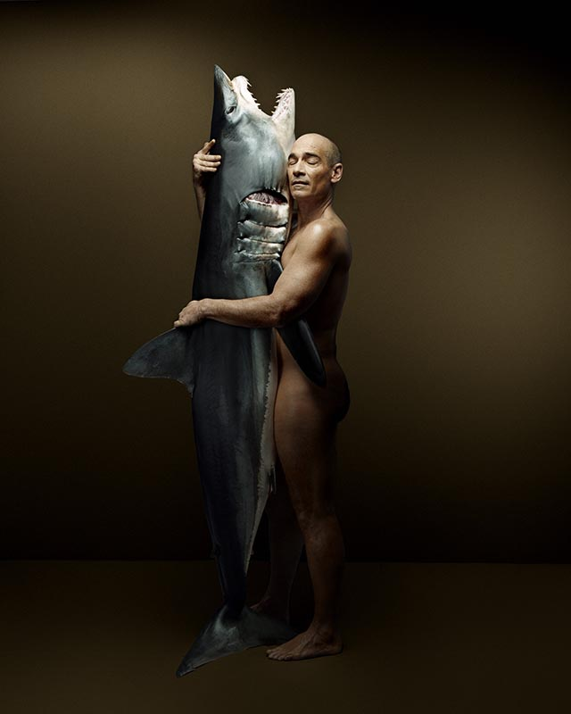 Fishlove Jean Marc Barr and Mako Shark - photography Denis Rouvre