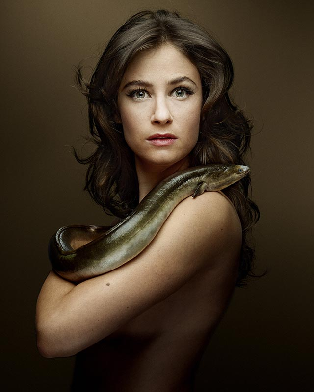 Fishlove Melanie Bernier and Eel - photography Denis Rouvre