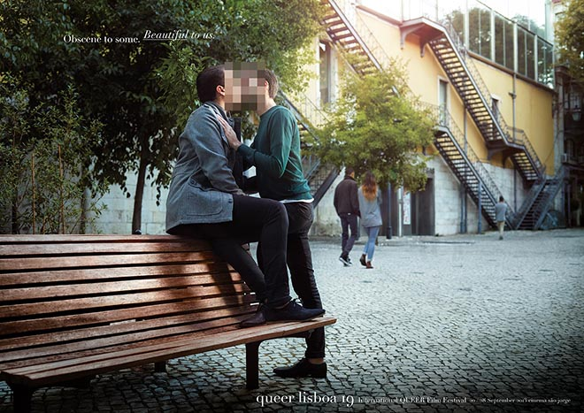 Queer Lisboa Obscene Bench print advertisement
