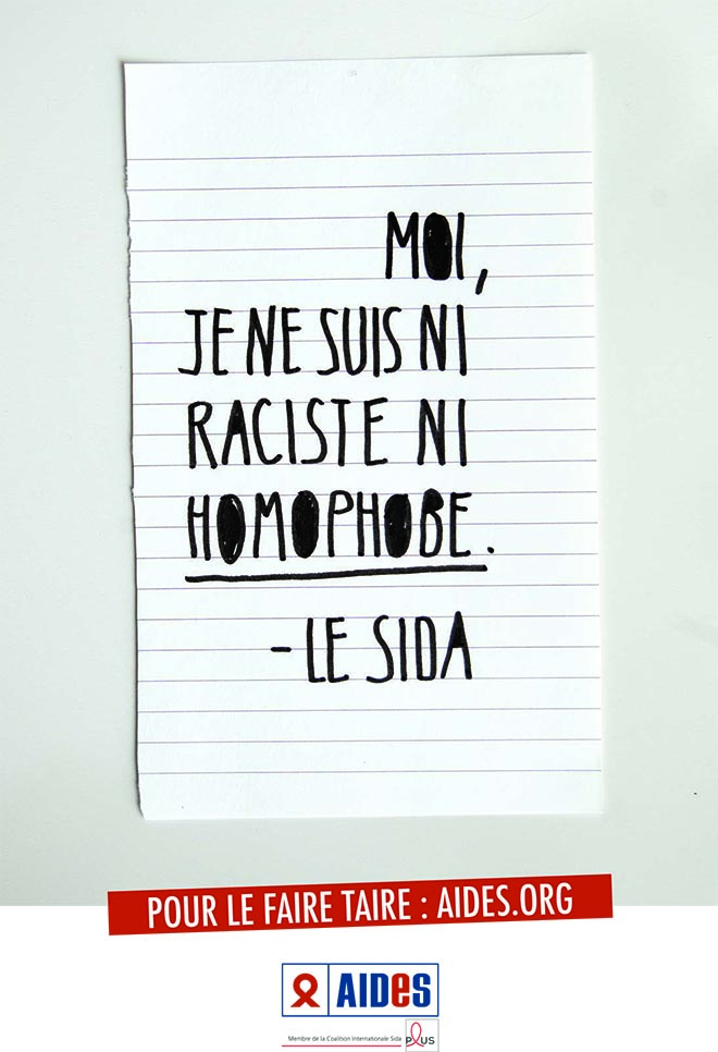 Le Sida Not Racist or Homophobic