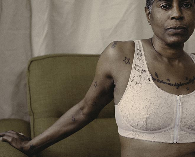 Woman with Louise Listening bra in Stella McCartney All is Love short film
